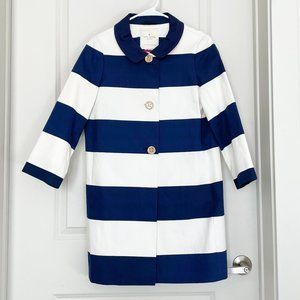 Kate Spade Franny Striped Coat - Small